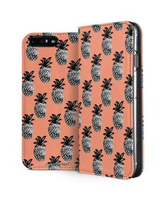 Gray Scale Pineapple iPhone 8 Plus Folio Case