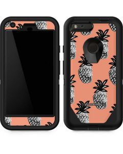 Gray Scale Pineapple Otterbox Defender Pixel Skin