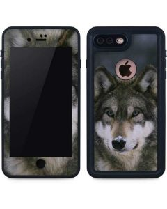 Gray Wolf at International Wolf Center iPhone 7 Plus Waterproof Case