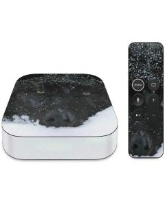 Gray Wolf Resting In Deep Snow Apple TV Skin