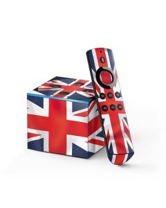 Great Britain Flag Fire TV Cube Skin