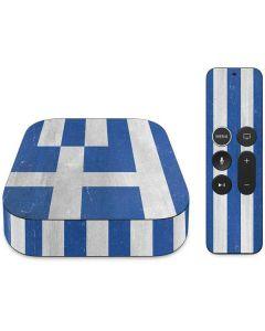 Greece Flag Distressed Apple TV Skin