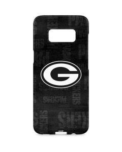 Green Bay Packers Black & White Galaxy S8 Plus Lite Case