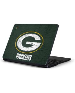 Green Bay Packers Distressed Samsung Chromebook Skin