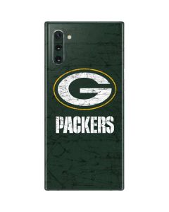 Green Bay Packers Distressed Galaxy Note 10 Skin