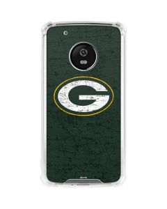 Green Bay Packers Distressed Moto G5 Plus Clear Case