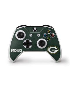 Green Bay Packers Distressed Xbox One Controller Skin