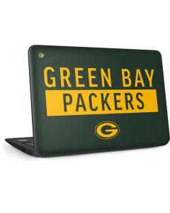 Green Bay Packers Green Performance Series HP Chromebook Skin