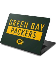Green Bay Packers Green Performance Series Dell Chromebook Skin
