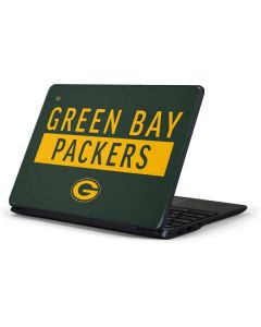 Green Bay Packers Green Performance Series Samsung Chromebook Skin