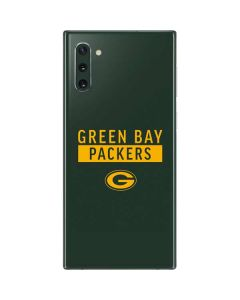 Green Bay Packers Green Performance Series Galaxy Note 10 Skin