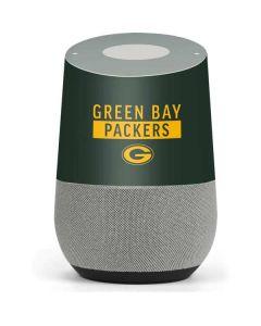 Green Bay Packers Green Performance Series Google Home Skin