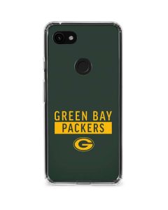 Green Bay Packers Green Performance Series Google Pixel 3a Clear Case