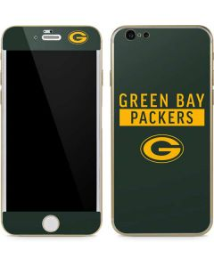 Green Bay Packers Green Performance Series iPhone 6/6s Skin