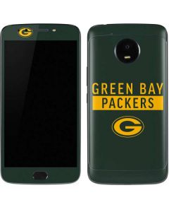 Green Bay Packers Green Performance Series Moto E4 Plus Skin