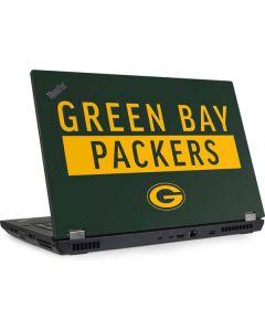 Green Bay Packers Green Performance Series Lenovo ThinkPad Skin