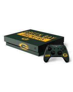 Green Bay Packers Green Performance Series Xbox One X Bundle Skin