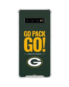 Green Bay Packers Team Motto Galaxy S10 Clear Case