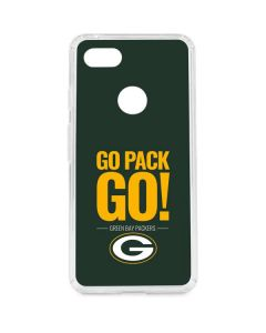 Green Bay Packers Team Motto Google Pixel 3 XL Clear Case