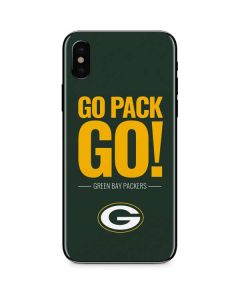 Green Bay Packers Team Motto iPhone X Skin