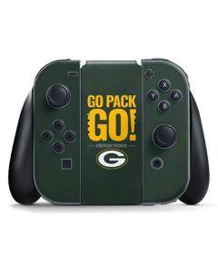 Green Bay Packers Team Motto Nintendo Switch Joy Con Controller Skin