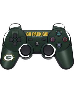 Green Bay Packers Team Motto PS3 Dual Shock wireless controller Skin