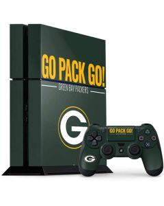 Green Bay Packers Team Motto PS4 Console and Controller Bundle Skin