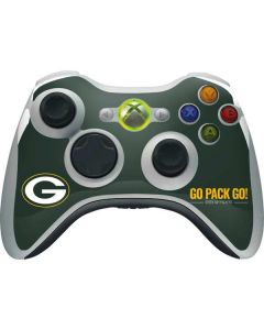 Green Bay Packers Team Motto Xbox 360 Wireless Controller Skin