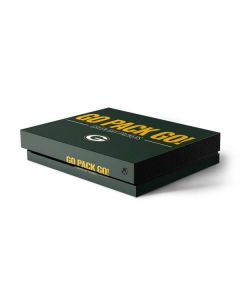 Green Bay Packers Team Motto Xbox One X Console Skin