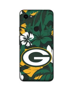 Green Bay Packers Tropical Print Google Pixel 3a Skin