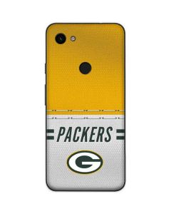 Green Bay Packers White Striped Google Pixel 3a Skin