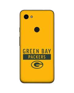 Green Bay Packers Yellow Performance Series Google Pixel 3a Skin
