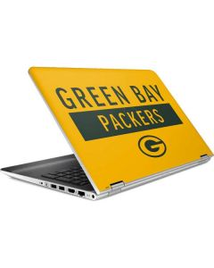 Green Bay Packers Yellow Performance Series HP Pavilion Skin
