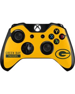 Green Bay Packers Yellow Performance Series Xbox One Controller Skin