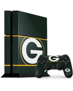 Green Bay Packers Zone Block PS4 Console and Controller Bundle Skin