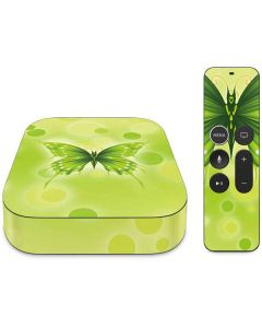 Green Butterfly Apple TV Skin