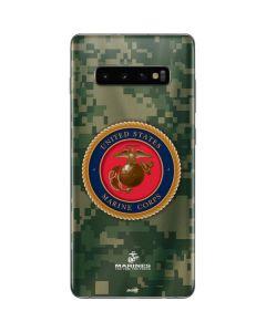 Green Camo Marine Corps Galaxy S10 Plus Skin