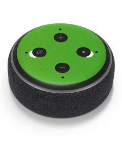 Green Carbon Fiber Amazon Echo Dot Skin
