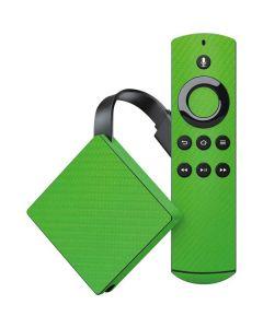 Green Carbon Fiber Amazon Fire TV Skin