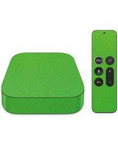 Green Carbon Fiber Apple TV Skin