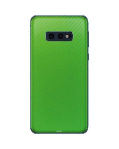 Green Carbon Fiber Galaxy S10e Skin