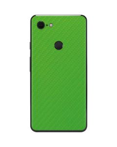 Green Carbon Fiber Google Pixel 3 XL Skin