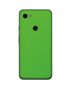 Green Carbon Fiber Google Pixel 3a Skin