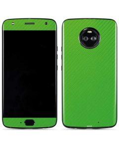Green Carbon Fiber Moto X4 Skin