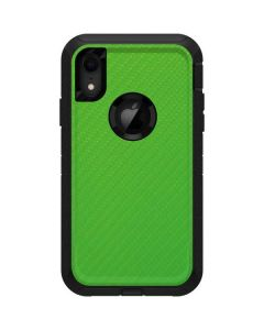 Green Carbon Fiber Otterbox Defender iPhone Skin