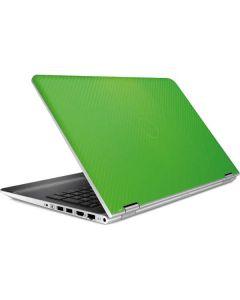 Green Carbon Fiber HP Pavilion Skin