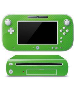 Green Carbon Fiber Wii U (Console + 1 Controller) Skin
