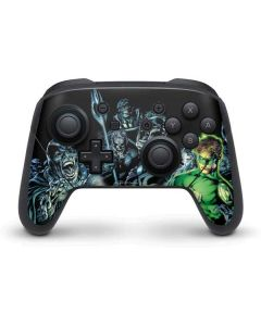 Green Lantern and Villains Nintendo Switch Pro Controller Skin