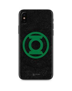 Green Lantern Logo Black iPhone XS Skin