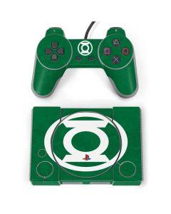 Green Lantern Logo Green PlayStation Classic Bundle Skin